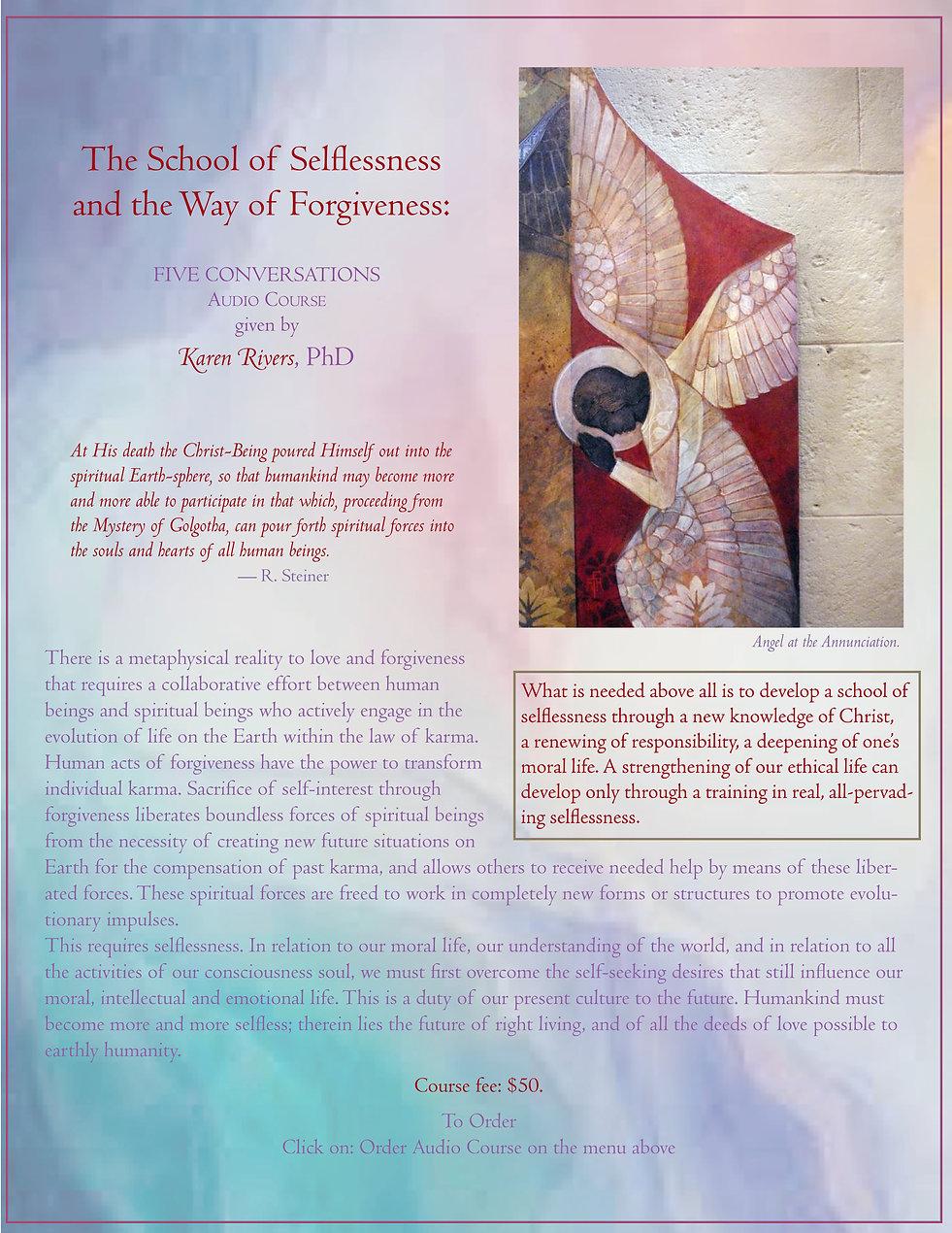 The School of Selflessness and Forgivene