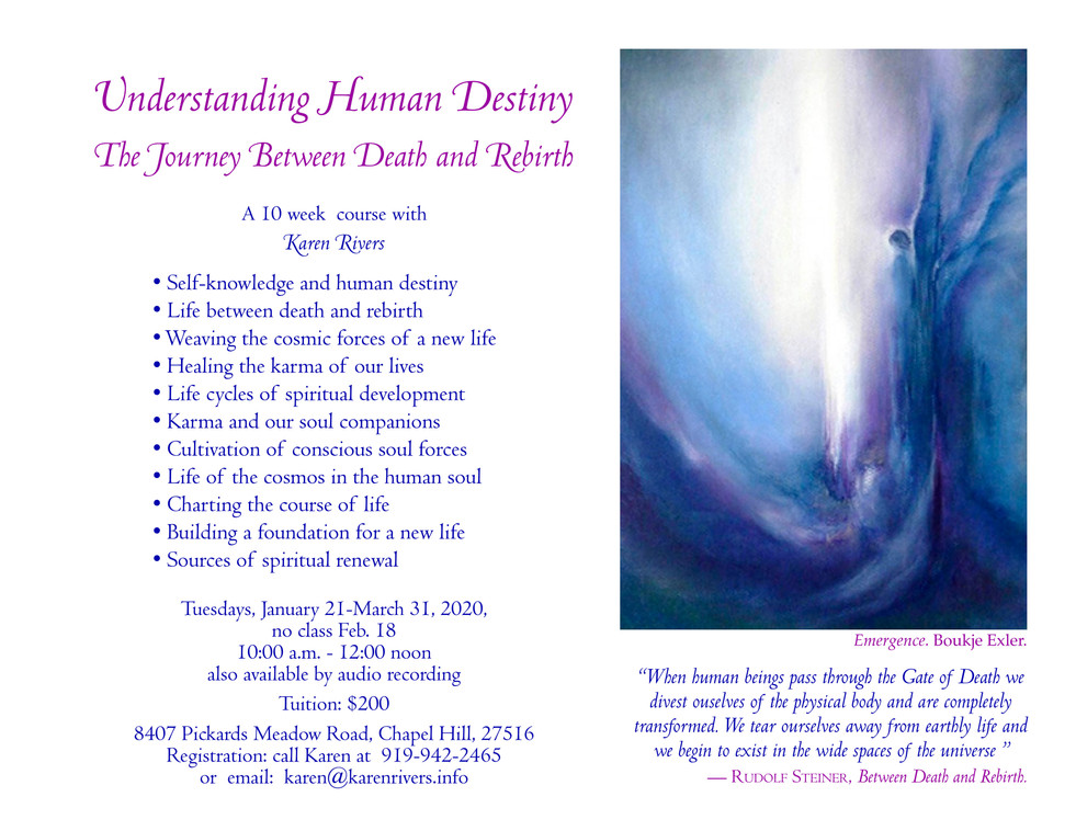 Understanding Human Destiny.Death-Rebirt
