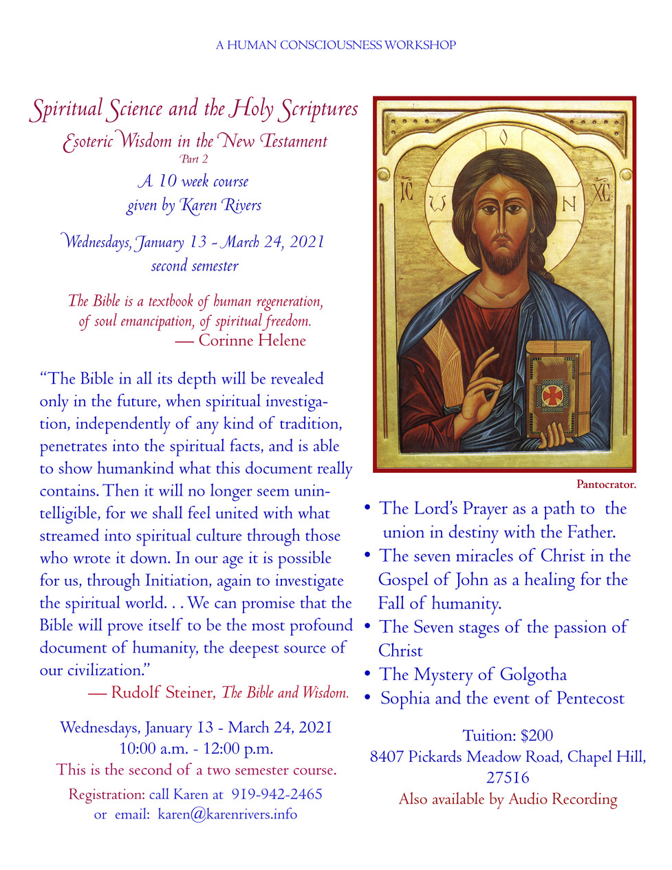 Esoteric Studies of the Holy Scriptures