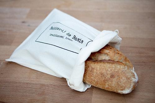 Broodzak 'Bakkerij de Basis'