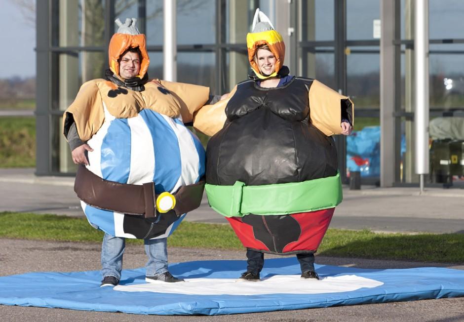 Costumes sumo Astérix & Obélix
