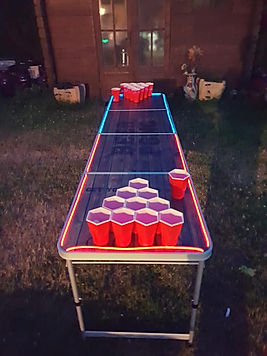 Table de beer-pong lumineuse