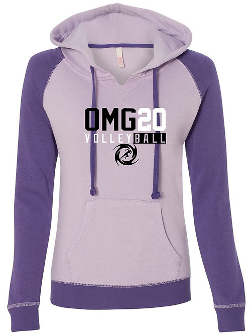 Ladies Harper Raglan Hooded Sweatshirt