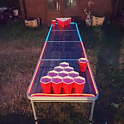 Table de beer pong lumineuse