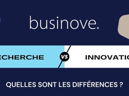 INFOGRAPHIE : Les différences entre Recherche et Innovation