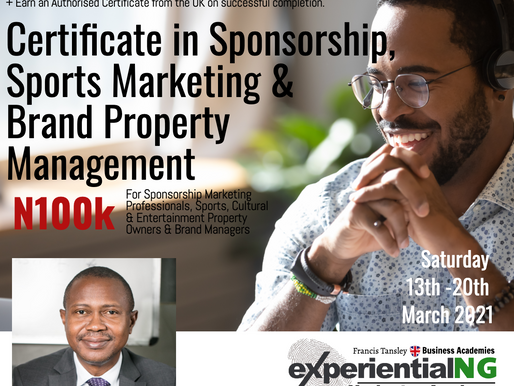 Enrol for the Certificate Course in Sponsorship, Sports Marketing & Brand Property Management.