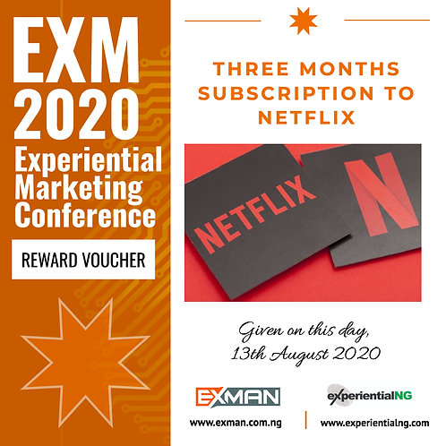 A THREE MONTH SUBSCRIPTION ON NETFLIX