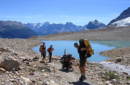 Michael Anthony and his family travel the iceline trail in Yoho National Park in 2010
