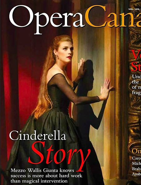 Mike Giunta's daughter Wallis Giunta on cover of Opera Canada Magazine January 2017