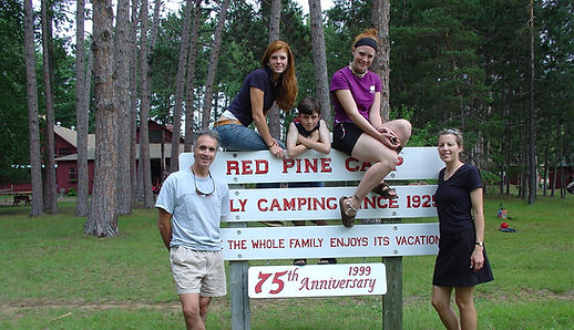 Mike Giunta and family at Red Pine Camp Ottawa