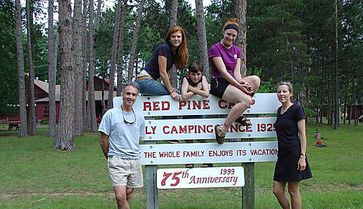 Michael Anthony and family at Red Pine Camp Ottawa