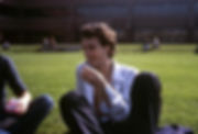 Mike Giunta on the lawn of Algonquin College 1980