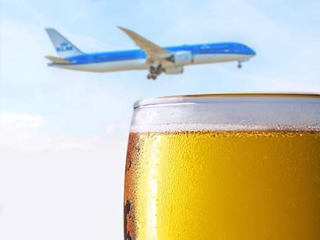 O que acontece quando eu bebo durante um vôo?