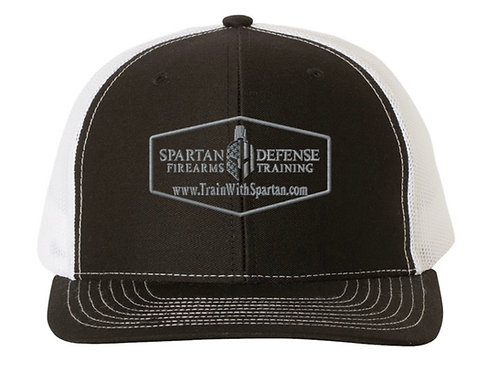 Spartan Trucker Hat-with Gray Lettering
