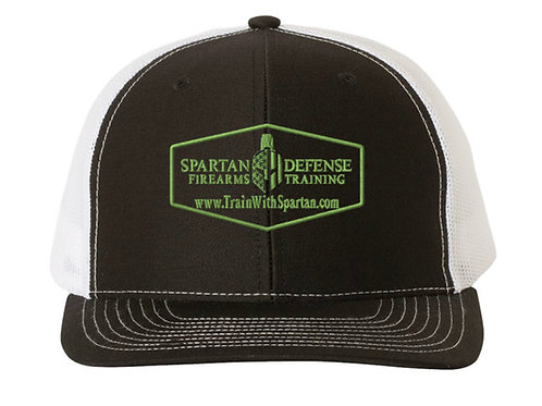 Spartan Trucker Hat- with Green Lettering