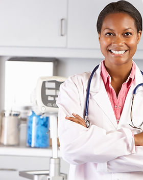 Portrait Of Female Doctor In Doctor's Of