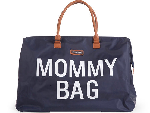 Mommy bag teddy Navy-Wit