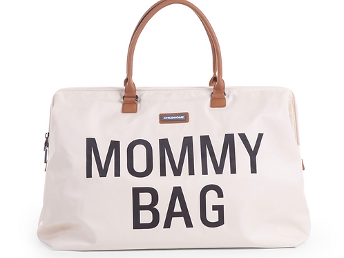 Mommy bag Ecru-Zwart