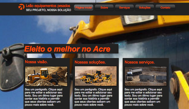 Automotivos website templates – Motores de Carga