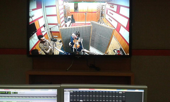 recording session for Typo in Gaza