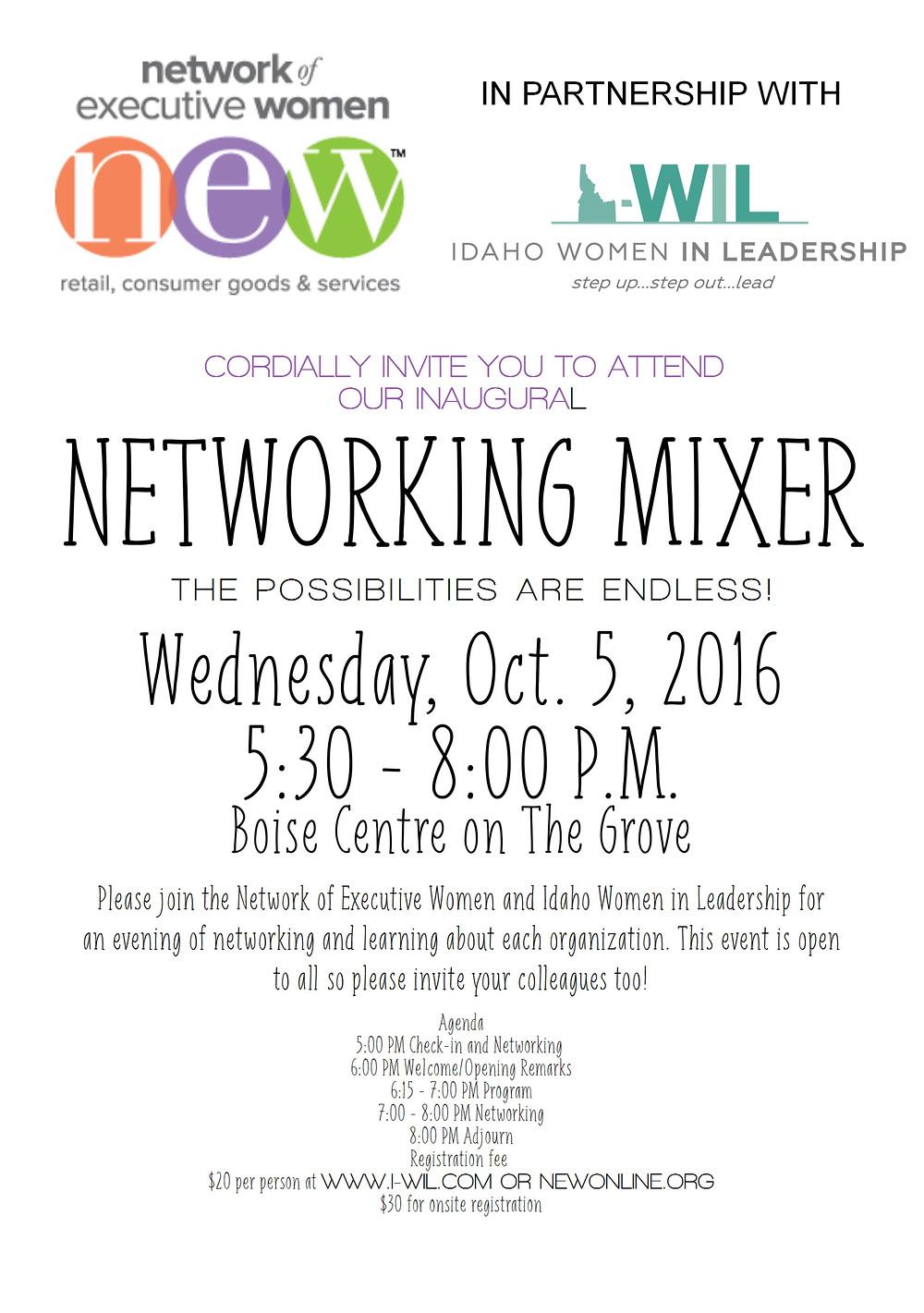 I-WIL & NEW Mixer Invite