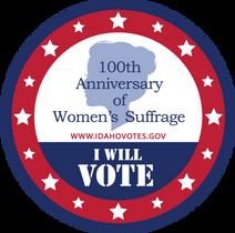 I Will Vote Sticker