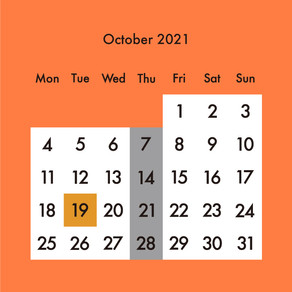 2021年10月の営業予定・完全予約制のご案内