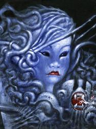 Portret niebieskiej dziewczyny z mackami