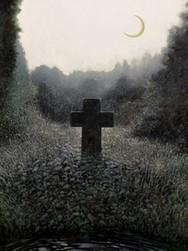 Krzyż w pokrzywach o świcie