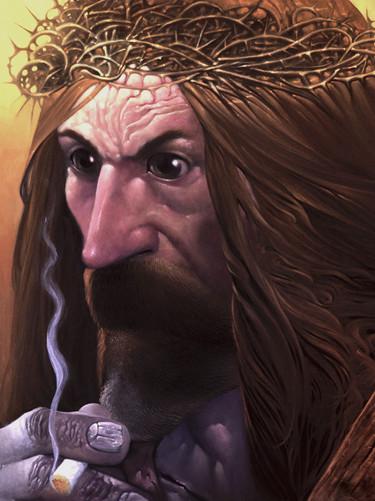Bieszczadzki zakapior jako Jezus, rozmyśla nad losami naszej cywilizacji