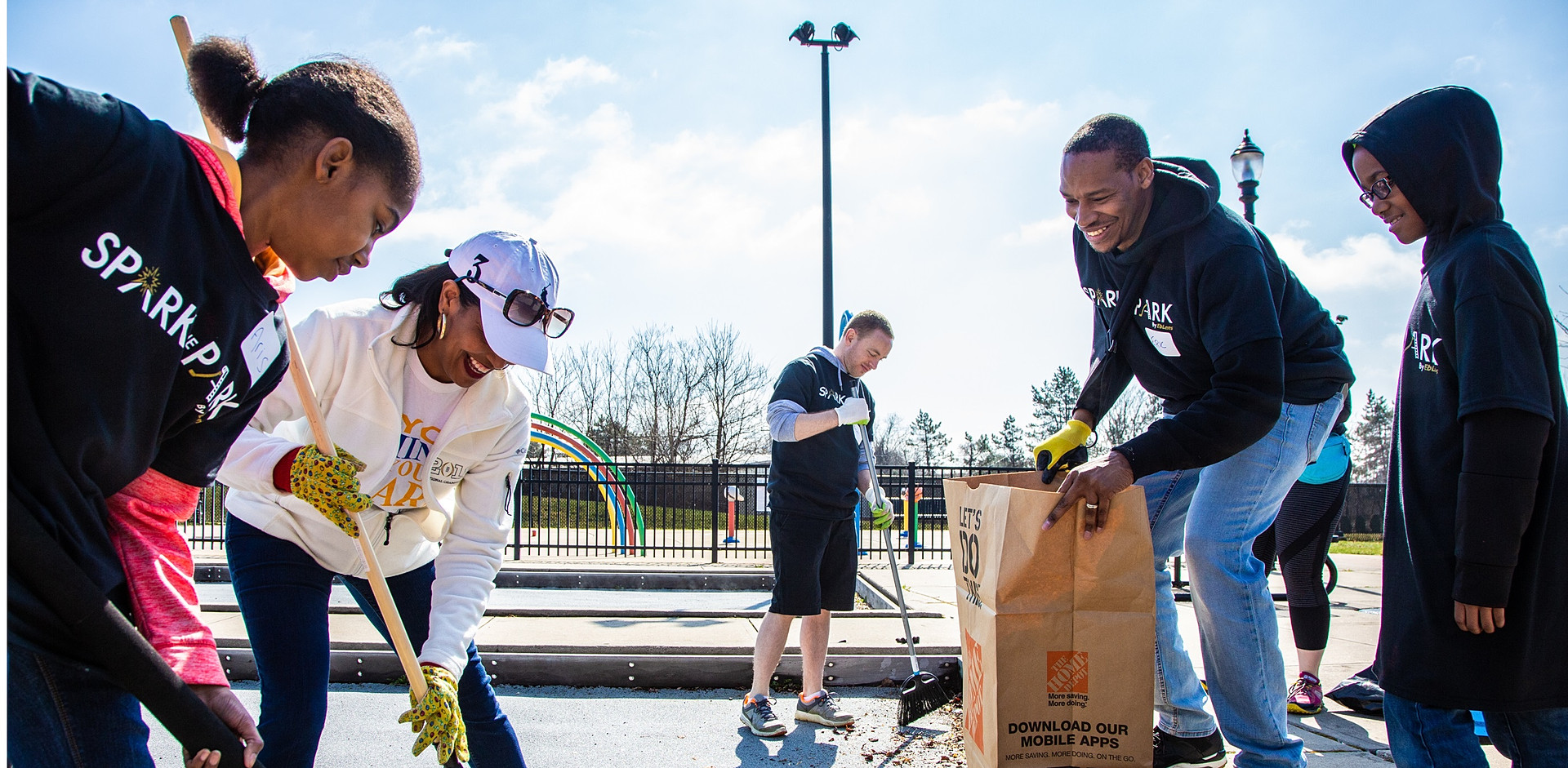 Representative Jahana Hayes helps out at the Spark the Park event in Willow St. Park in April 2019.