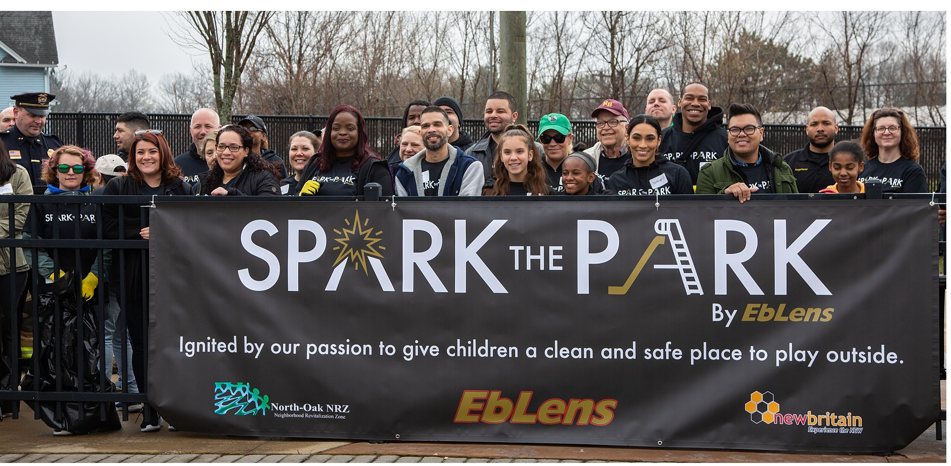 Eblen's employees teamed up with the North Oak neighborhood and the City of New Britain to clean up Willow St. Park in April 2019 for the Spark the Park event.  Eblen's was founded in New Britain 70 years ago.