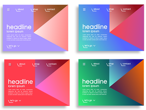 Website design template - set van vier