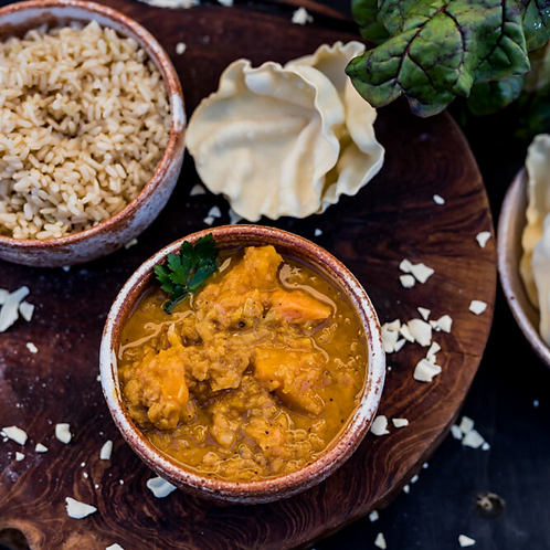 Dhal with roasted pumpkin - ready-made meal