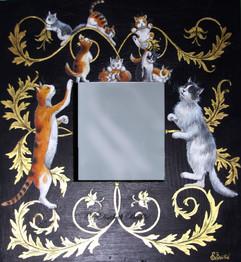miroir en bois doré feuille d'or.JPG