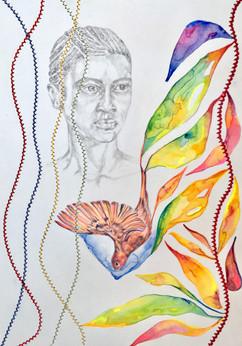 Claudia Brutus dessin II 2020 Technique