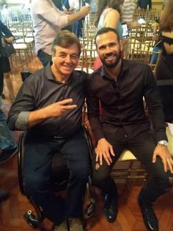 Geraldo Nogueira com Leandro Castán, artilheiro do Vasco