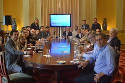 Subsecretário Geraldo Nogueira e membros da SUBPD recebendo os criadores da Smart Cities For All