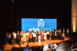 Subsecretário Geraldo Nogueira participando do evento de comemoração dos 100 anos de governo do Pref