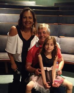 Geraldo Nogueira com Marlucia e Manuela