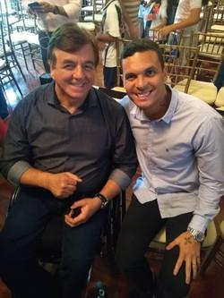 Geraldo Nogueira com Ramon, lateral esquerdo do Vasco