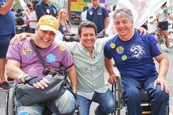 Geraldo Nogueira com Carlos Simon e Otavio Leite