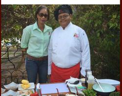 Simone Clarke-Cooper & Chef Theo