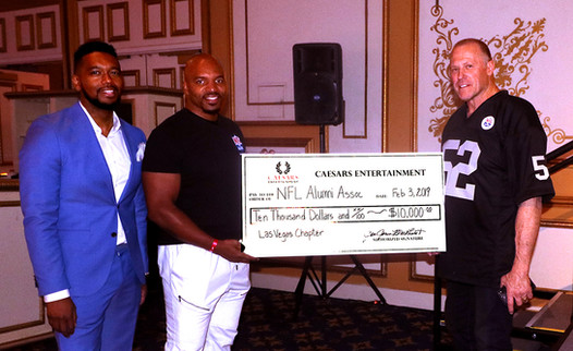 Caesars Donation to NFL Alumni Las Vegas