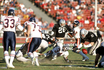 Linden King fumble recovery walter Payton