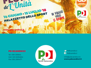 Programma Festa de L'Unità 2018