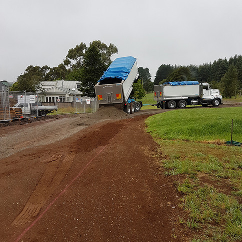 New driveway going in