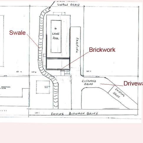 Rough site plan