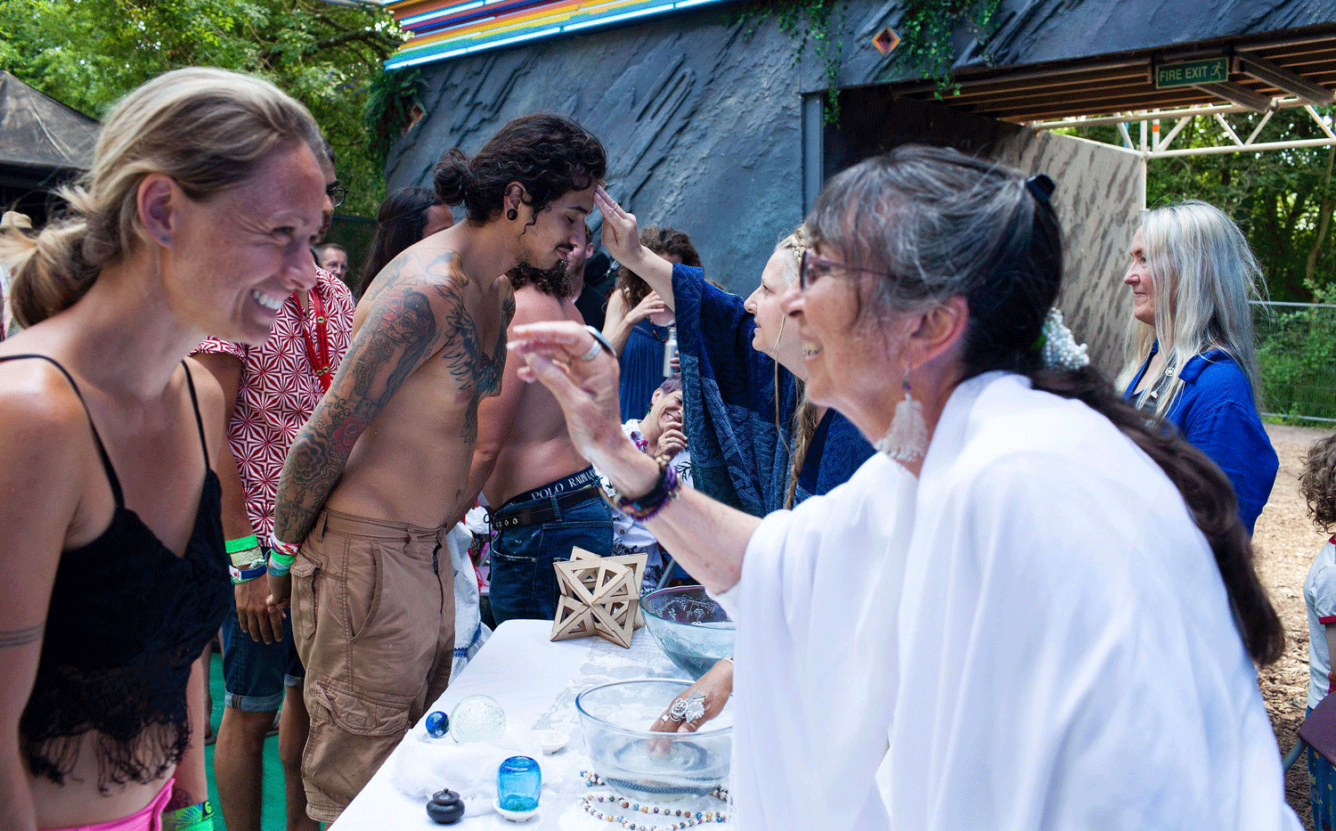Water Blessing at The Common