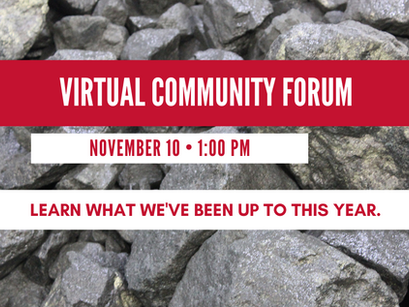 Join us for a virtual community forum Nov 10
